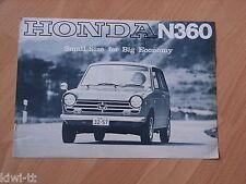 Honda N 360 Prospekt / Brochure / Depliant, 10.1967, selten / rare!