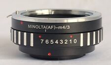 Sony Alpha Minolta AF Lens to Micro 4/3 M43 M4/3 Mount Adapter EP3 GX1 MA-M43
