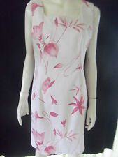 EXCLUSIVE Womens White/Pink sleeveless Dress - size 12