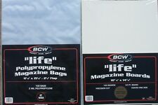 (100) BCW LIFE MAGAZINE SIZE BAGS & BACKING BOARDS - PRIORITY SHIPPING