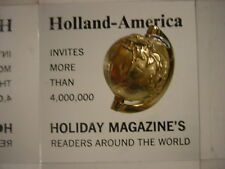 Great Lucite Paperweight Holland-America Holiday Magazines 4 Mill Read TCBC-139