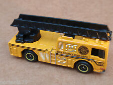 Matchbox 06 FIRE ENGINE from 5 Pack LOOSE Yellow FIRE DEPARTMENT