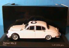 JAGUAR MKII MK2 1959 POLICE MINICHAMPS 430130690 1/43 ENGLISH WHITE SERIES 2 3.6