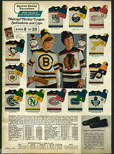 1971 ADVERTISEMENT 4 Pg NHL NFL Sweatshirts Caps Jacket Pennant Sweater Poster