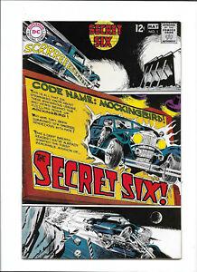 "SECRET SIX #1 [1968 FN-] ""CODE NAME: MOCKINGBIRD!"""