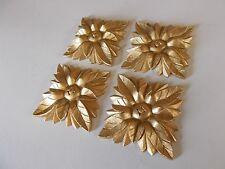 Espejo Decorativo Molduras cuatro grandes Eduardiano Cuadrado Rose Oro Antiguo