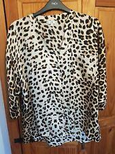 River Island Leopard Print Blouse Size 8