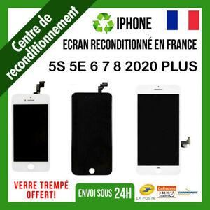 ECRAN LCD VITRE TACTILE ORIGINAL RECONDITIONNE POUR IPHONE 5 6 6S 7 8 PLUS 2020