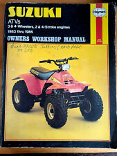 suzuki atv & 3 wheelers 2 & 4 stroke engine haynes book Manual workshop 83-85 84
