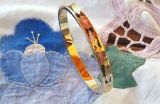bangle, bracelet émail, enamel  vintage pour femme en plaqué or  .
