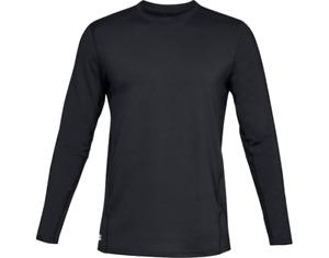 Under Armour 1316936 Men's Black UA ColdGear Reactor Crew Base Shirt, Large