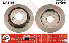 TRW Juego de 2 discos freno Trasero 259mm MERCEDES-BENZ SPRINTER MINI DF4198