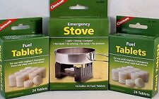 1-SURVIVAL EMERGENCY STOVE W/ 72 HEXAMINE ESBIT FUEL TABLETS KEEP WARM COOK