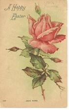 vintage postcard 1909 A Happy Easter Jack Rose Ola Forshey Douglas Nebraska