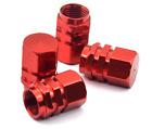 4x RED Color Aluminum Tire/Rim Valve Stem/Wheel Dust Cover Caps