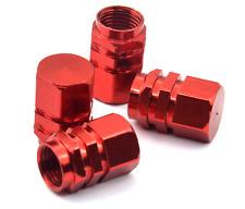 4x RED Color Aluminum Tire/Rim Valve/Wheel Dust Cover Caps