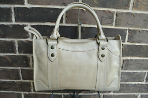 NWT $388 Frye Melissa Satchel Antique Pull Up Italian Washed Leather Parchment