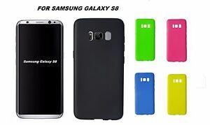 Cover custodia Samsung galaxy S8 TPU slim morbida nero giallo verde blu rosa 0,3