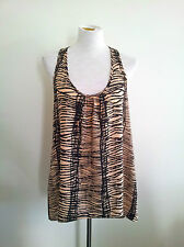 Casual Beachwear! Seafolly size M camel & black hi-lo top in excellent condition