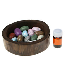 Stone Aroma Diffuser Wooden Tray Essential Oil Scent Natural Thailand (Choice)