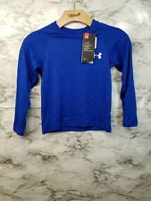 Under Armour Youth XS Cold Gear Long Sleeve Blue T Shirt New #S