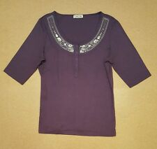 CHEROKEE Ladies Size 14 Top With Glittery Tassels Around Neck