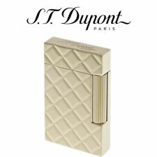 NEW ST Dupont Ligne 2 Slim Quilted Yellow Gold Soft Flame Lighter - 017082
