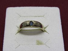 Damenring  - Goldring - Blauer Stein - Diamanten - 333