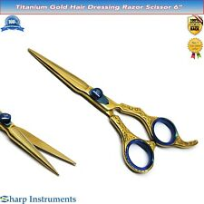 Salon Hair Cutting Scissors 6'' Hairdressing Trimming Razor tijera de peluquería