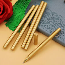 1x Pure Brass Ball Retro Pens Handmade EDC Japan Style Pen Refillable Gel Pen