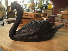 Large Black Swan Gold Beak Figure Table Decor 38.5 cm High