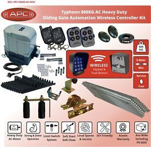 Heavy Duty Automatic Electric Sliding Gate Opener Auto Motor Remote W Hardware