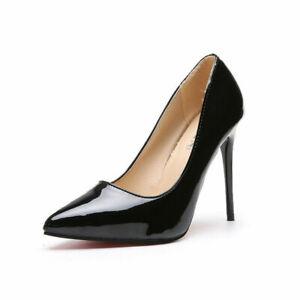 Damen Pumps High Heels Stiletto Elegante Schuhe Lack Absatzschuhe gr.43