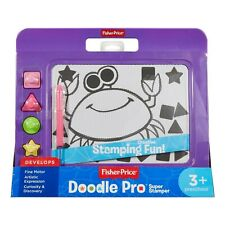 Fisher Price Doddle Pro Super Stamper Drawing Board with 4 Stamps Purple
