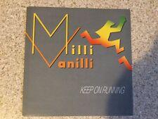 """Milli Vanilli """"Keep on running"""". 7"""" vinyl single."""
