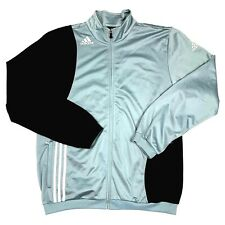 Vintage ADIDAS Men's Retro Shell TrackSuit Top BLACK/SILVER Jacket Size 50/52