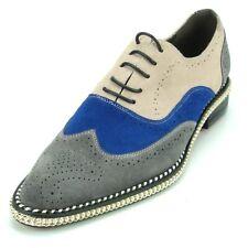 FI-7200 Grey Blue Beige Fiesso by Aurelio Garcia Suede Size 11 Retails $175