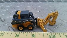 1/64 ERTL CUSTOM FARM TOY JOHN DEERE 320E SKID LOADER W/ EXCAVATOR BOOM & BUCKET
