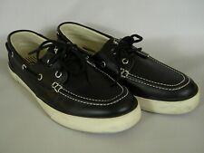 Polo Ralph Lauren Sander Mens Sz 9.5D Black Leather Boat Shoes  911822