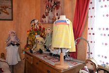 tee shirt neuf petit bateaux 4 ans mariniere  jaune bleu orange