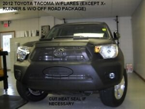 Lebra Front End Mask Cover Bra Fits TOYOTA Tacoma 2012-2015 With Flares