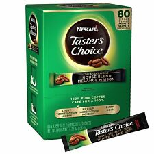 NESCAFE COFFEE TASTERS CHOICE HOUSE BLEND DECAF STICK PACK 80CT