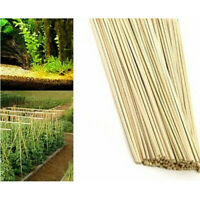 100 x 40cm Bamboo Wooden Plant Sticks Garden Plants Support Canes Flower Cane