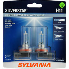 Sylvania Silverstar H11 Light Bulbs High Performance Headlight NEW 12.8V 55W