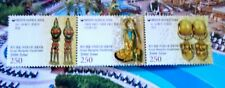KOREA - KAZAKHSTAN - MONGOLIA 2009 Golden Earrings Mint NH Strip Unused stamps