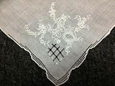 12 Pieces Hand Stitch Embroidered Embroidery Fine Linen Handkerchief Hankie