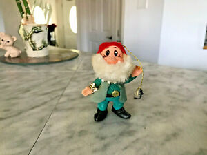 Vintage 1950s Walt Disney Snow White Dwarf Christmas Ornament (Japan)