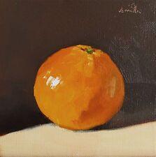 Oil Painting canvas 'Orange' Modern Still Life Original. J Smith