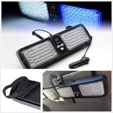 86 LED White &Blue Car SUV Sun Visor Emergency Hazard Warning Flash Strobe Light