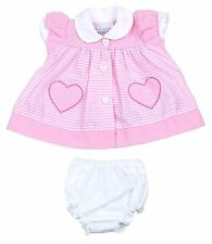Cotton Blend Striped Dresses (0-24 Months) for Girls
